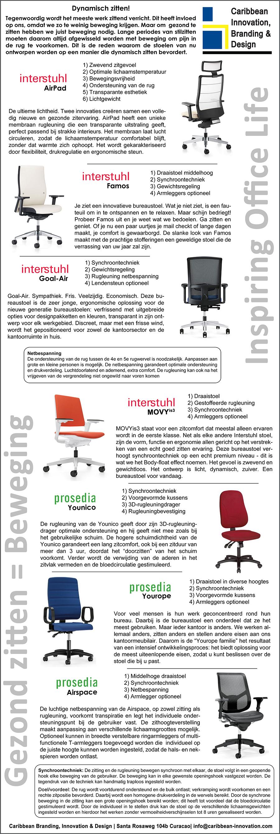 Interstuhl-bureaustoelen